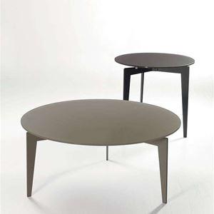 tavolino tondo cristallo duo