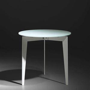 tavolino vetro piccolo bianco