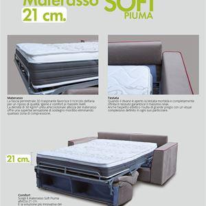 materasso divano letto h 21