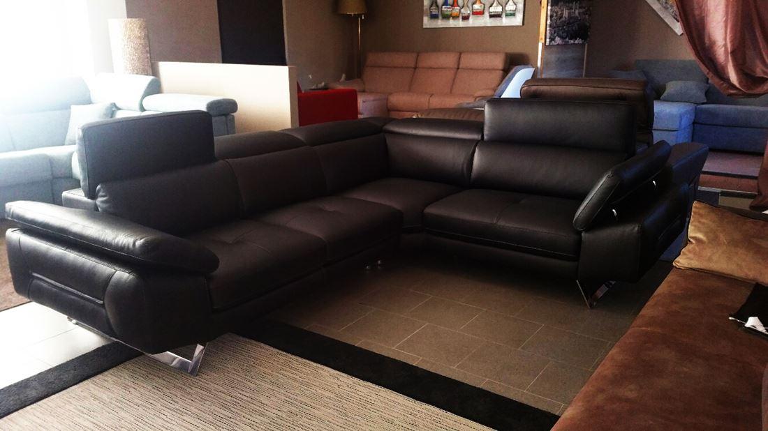 divano pelle angolare aliax reclinabile