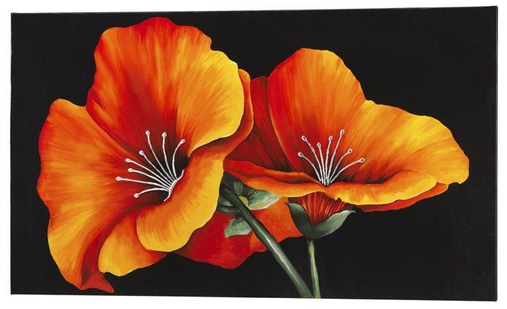 Ibiscus - Tela in cotone decorato