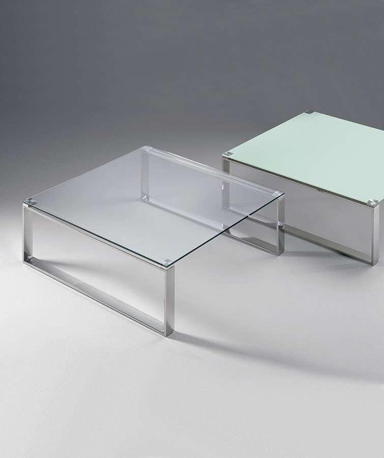 Tavolino quadrato cromato