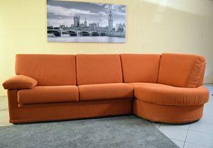 Divano Sally penisola panoramica arancio