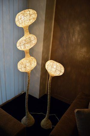 lampade sfere in spago