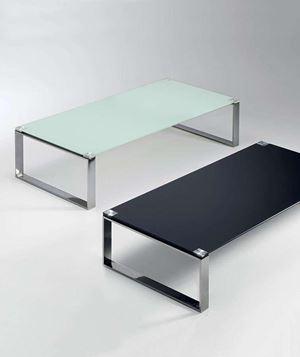 tavolino rettangolare cromato