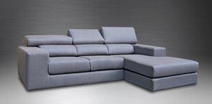 divano con recliner penisola reversibile