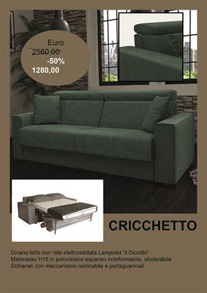 promozione cricchetto divani letto materasso alto