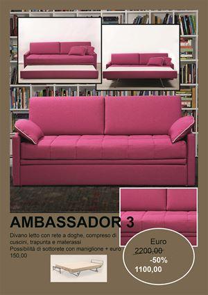 promozione ambassador 3 doppio letto